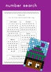 Place Value and mental math mystery pictures  - multi ethnic winter hats theme