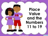 Place Value and the Numbers 11 to 19