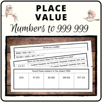 Place Value book - whole numbers to 999 999, lots of concepts covered