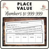 Place Value book - whole numbers to 999 999, lots of conce