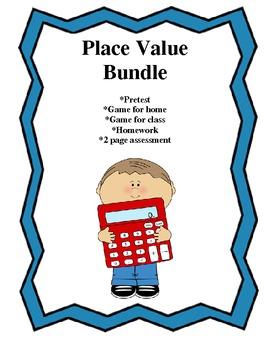 Place Value bundle (pretest, games, homework, assessment)