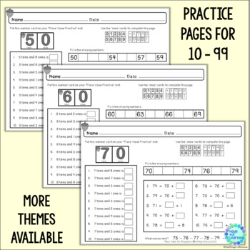 Place Value for Beginners: FALL Theme...Ones, Tens and Hundreds to 199