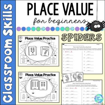 Place Value for Beginners: SPIDER Theme ...Ones, Tens and Hundreds to 199