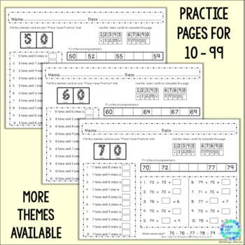Place Value for Beginners SPRING Theme Ones, Tens and Hundreds to 199