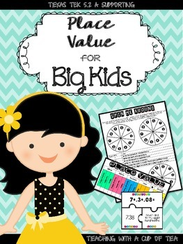 Place Value for Big Kids {Value of a Digit in decimals through the thousandths}