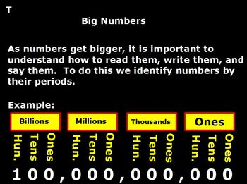 Place Value for Big Numbers