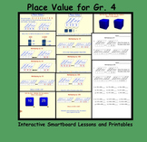 Place Value for Gr. 4 Interactive Smartboard Lessons