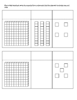 Place Value for Interactive Math Notebooks