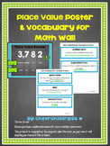 Place Value Posters & Vocabulary