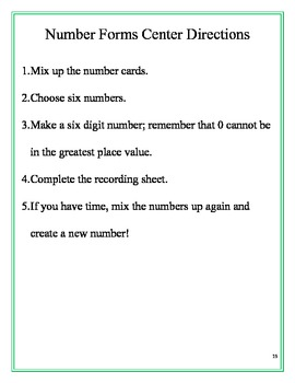 Place Value for Multi-Digit Whole Numbers Packet