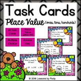 Place Value for Ones Tens and Hundreds Task Cards