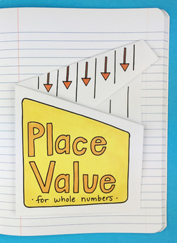 Place Value for Whole Numbers Interactive Notebook Foldable by Math Doodles