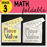 Math Doodle - Place Value for Whole Numbers Foldable for 3rd Grade - FREEBIE!