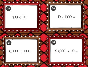 Place Value for  Whole Numbers Task Cards