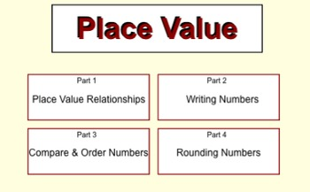 Place Value for the Smartboard