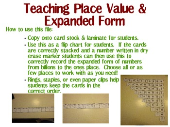 Place Value from Ones to Billions