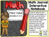 Place Value (grades 4 & 5) ~ Math Journal/Interactive Notebook Activities
