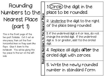Place Value (grades 4 & 5) ~ Math Journal/Interactive Notebook Activities