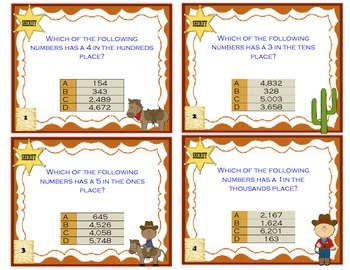 Place Value: identifying place and value task cards