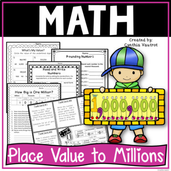 place value to the millions for 4th grade by cynthia vautrot tpt. Black Bedroom Furniture Sets. Home Design Ideas