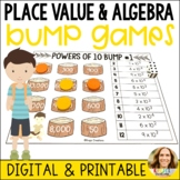 Place Value and Algebra Bump Games-Camping Themed