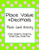 Place Value in Decimals: Flash Card Activity