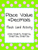 Place Value in Decimals: Flash Card Activity