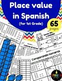 Place Value in Spanish 1st Grade/ Valor posicional primer grado