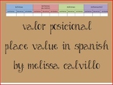 Place Value in Spanish - Valor Posicional
