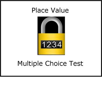 Place value multiple choice math test
