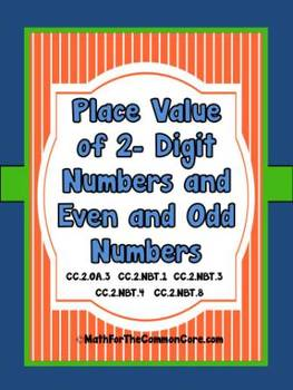 Place Value of 2-Digit Numbers and Odd and Even Numbers