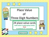 Place Value of 3 Digit Numbers--Back to School Theme
