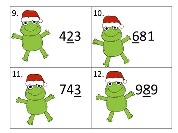 Place Value of 3 Digit Numbers---Christmas Theme