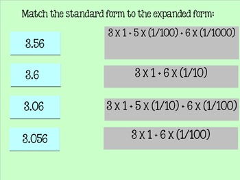 Place Value of Decimals