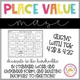 Place Value of Decimals to the Hundredths Maze