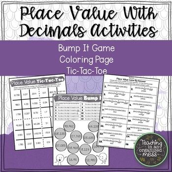 Place Value of Decimals with Expanded Notation Activities