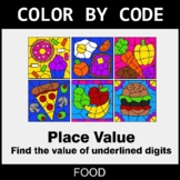 Place Value of Underlined Digit - Color by Code / Coloring