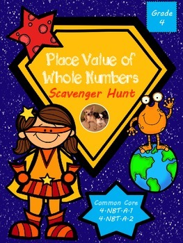 Place Value of Whole Numbers Scavenger Hunt - Math in Focu
