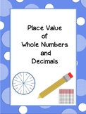 Place Value of Whole Numbers and Decimals