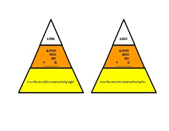 Place Value or Multiplication and Division Candy Corn Task Cards