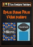 Place Value posters in a space theme