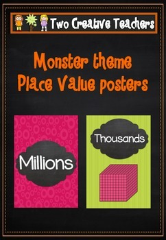 Place Value posters in candy colours