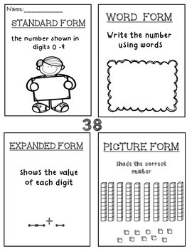 3rd Grade Place Value: standard, word and expanded form, base ten blocks