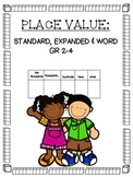 3rd Grade Place Value: standard, word and expanded form, b