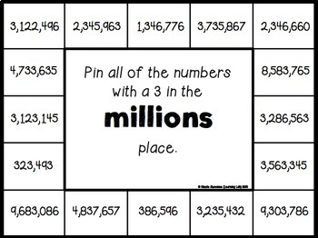 Place Value (thousands through millions) - Self-Checking Math Centers