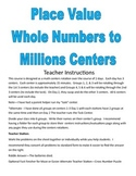 Place Value through Millions Centers and Activities