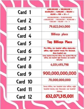 Place Value through the Hundred Billions Scavenger Hunt