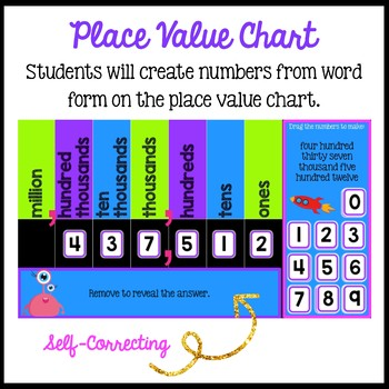 Place Value to 1,000,000:  Standard, Word, Expanded for the Google Classroom