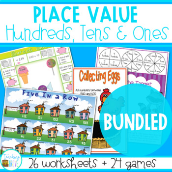 Place Value to 1,000 Bundled