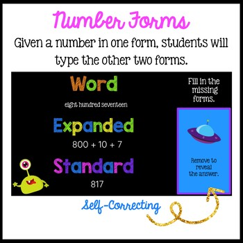 Place Value to 1,000:  Standard, Word, Expanded Form for the Google Classroom